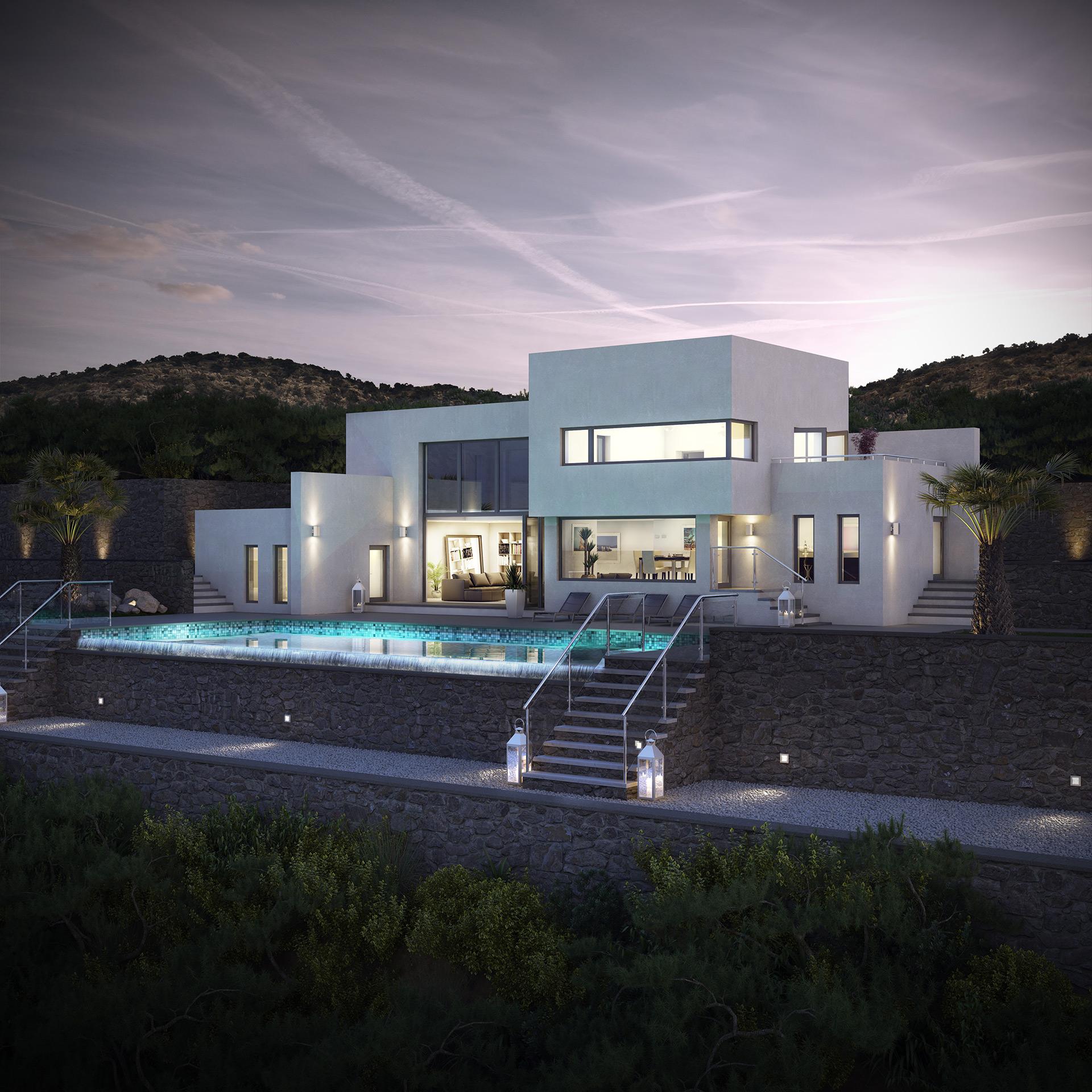 villa property and warm climates